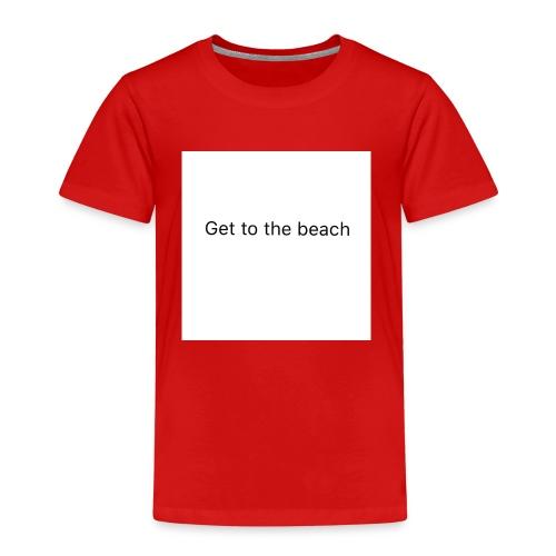 dog bandana get to the beach - Kids' Premium T-Shirt