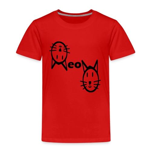 Moew Katzengesicht Geschenk Geschenkidee Katze - Kinder Premium T-Shirt