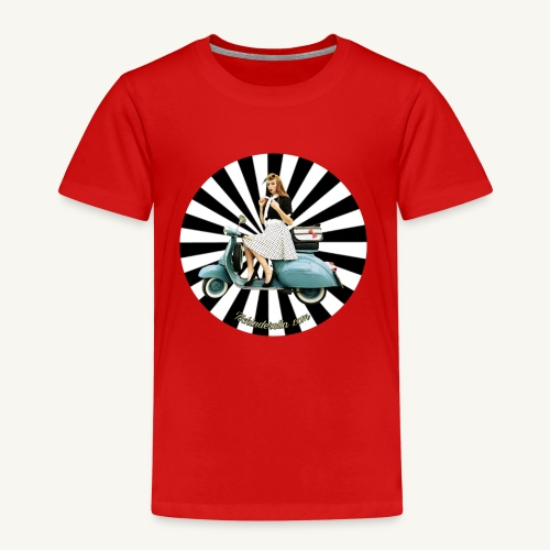 Pin Up auf Vespa Stripes - Kinder Premium T-Shirt