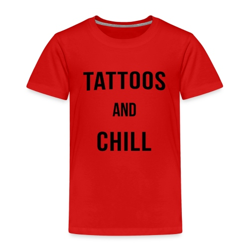 Tattoos and Chill Tätowiert Geschenk - Kinder Premium T-Shirt