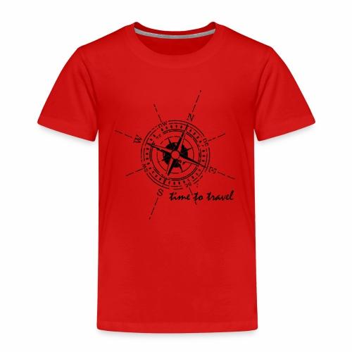 Kompass time to travel schwarz - Kinder Premium T-Shirt