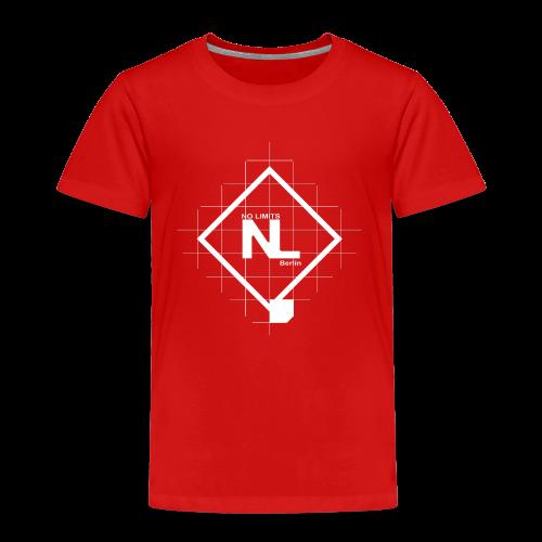 No Limits Logo Weiß - Kinder Premium T-Shirt