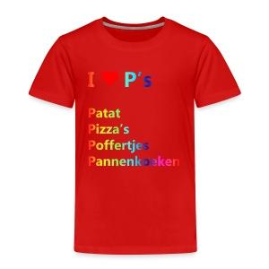 Ik hou van P kindershirt - Kinderen Premium T-shirt