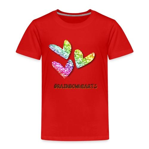 #RAINBOWHEARTS - Kids' Premium T-Shirt