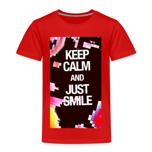 KEEP CALM AND JUST SMILE - Kinder Premium T-Shirt