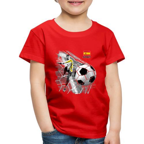 GP22F-02 SPAIN FOOTBALL PRODUCTS - Espanya fútbol - Lasten premium t-paita