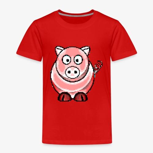 Schweinchen Retro Pixel Grafik Geschenk Bauernhof - Kinder Premium T-Shirt