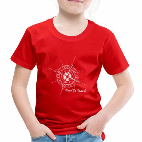 Kompass time to travel weiß - Kinder Premium T-Shirt