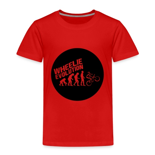 Wheelie Evolution (BLACK) - Kinder Premium T-Shirt