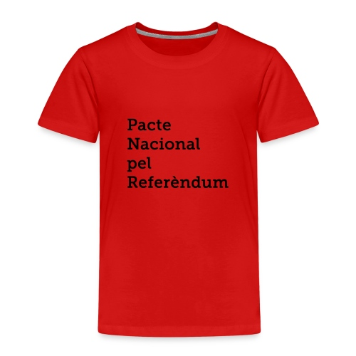 PACTE NACIONAL PEL REFERÈNDUM - Camiseta premium niño