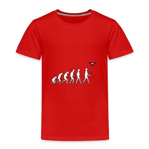 Humanity evolution drone - Kinderen Premium T-shirt