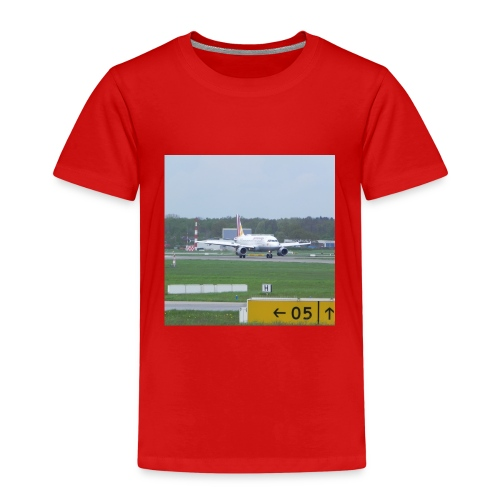 Germanwings A319 after landing - Kinder Premium T-Shirt
