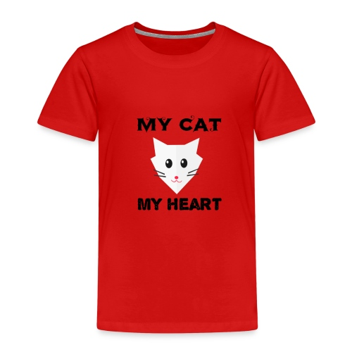 my cat my heart - T-shirt Premium Enfant