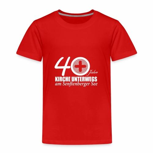 KU Shirt front 4 white - Kinder Premium T-Shirt