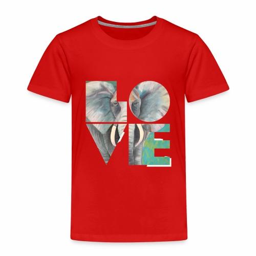 Elefant der Liebe - Kinder Premium T-Shirt