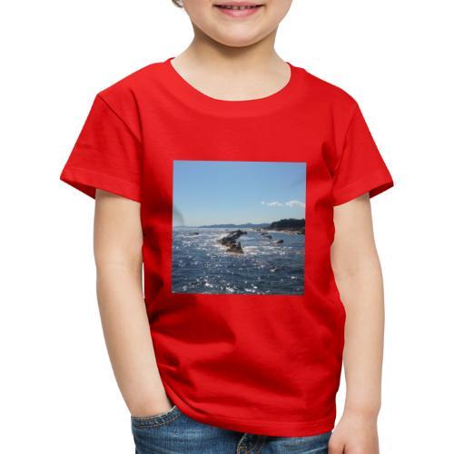 Mer avec roches - T-shirt Premium Enfant