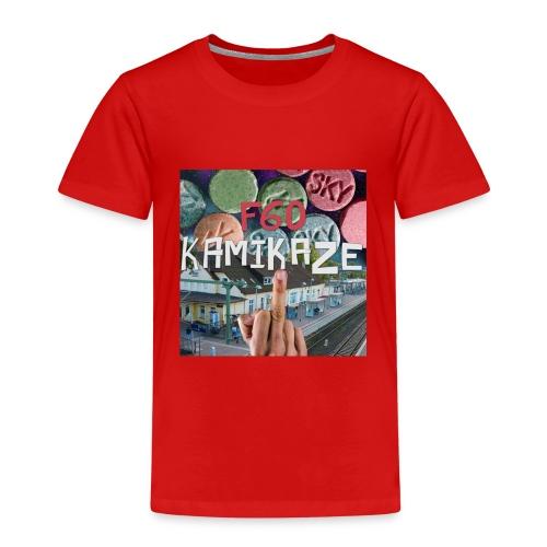 F60 Kamikaze Pillen, Mittelfinger, Bahnhof - Kinder Premium T-Shirt