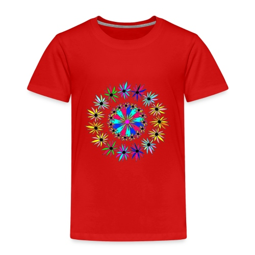 Flowervpower mandala - Kinderen Premium T-shirt