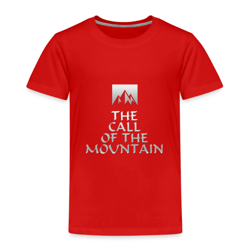 The Call Of The Mountain - silver - Kids' Premium T-Shirt