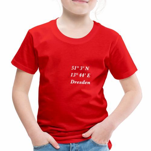 Dresden mit Koordinaten - Kinder Premium T-Shirt