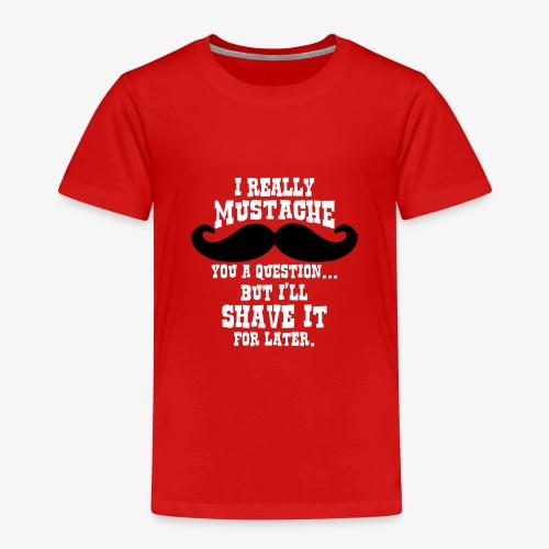 Funny Mustache T Shirt - Kids' Premium T-Shirt
