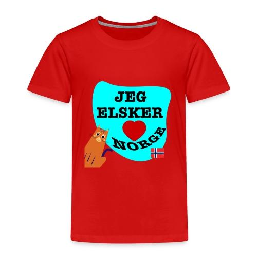 Jeg elsker Norge - Premium T-skjorte for barn