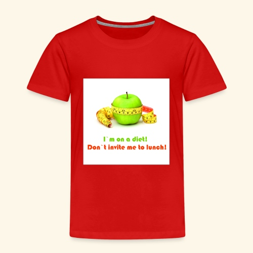 I am on diet 2! Don`t invite me to lunch! - Kids' Premium T-Shirt
