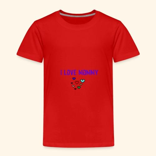 I love Mommy - funny Design - Kinder Premium T-Shirt