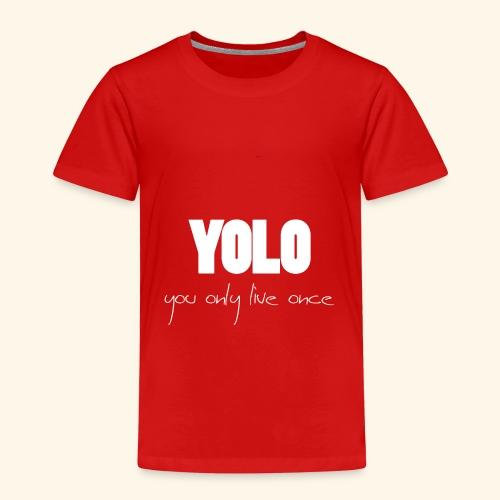 YOLO - white -1 - Kinder Premium T-Shirt