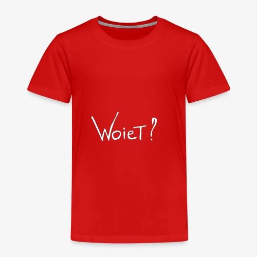 Woiet wit. - Kinderen Premium T-shirt