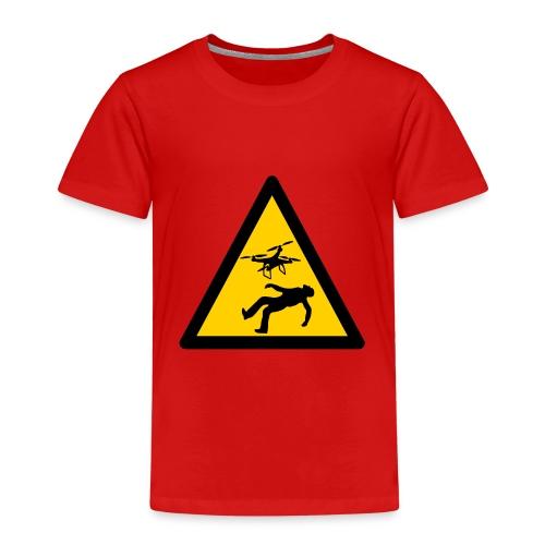 Señal advertencia peligro warning drones - Camiseta premium niño