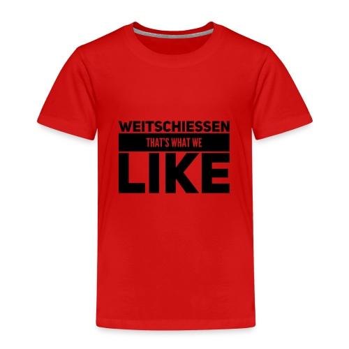 Weitschiessen schwarz - Kinder Premium T-Shirt