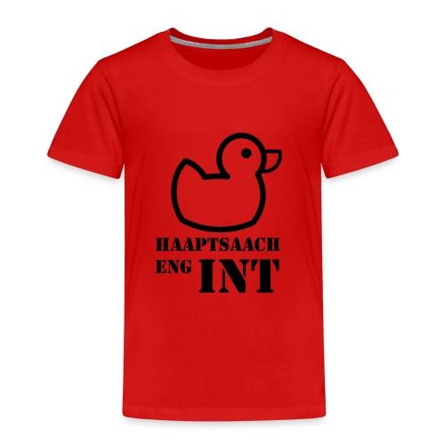 Haaptsaach eng Int - Kinder Premium T-Shirt