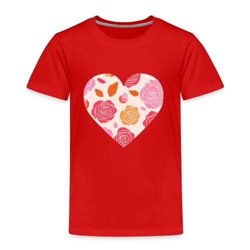 Herz Rosen - Kinder Premium T-Shirt