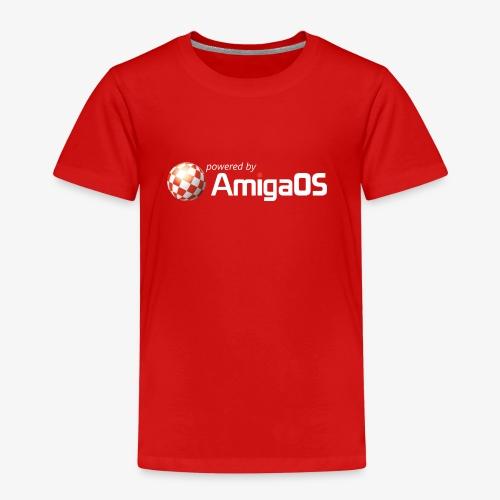 poweredByAmigaOS weiß - Kinder Premium T-Shirt