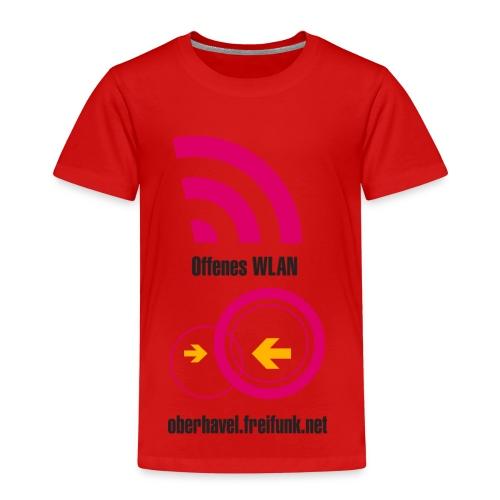171203freewifi oberhavel v6 1btranspa - Kinder Premium T-Shirt