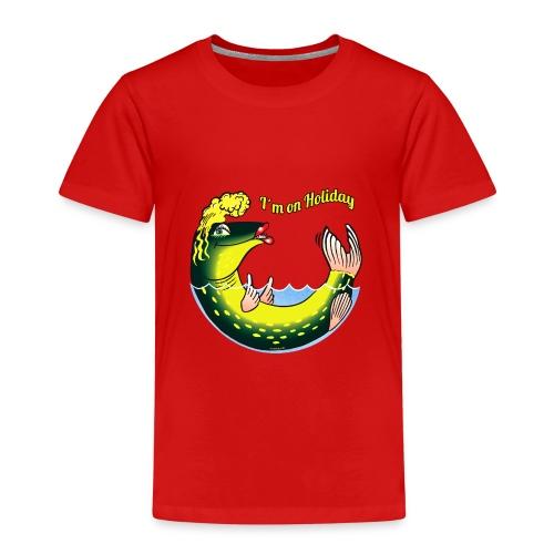 10-39 LADY FISH HOLIDAY - Haukileidi lomailee - Lasten premium t-paita