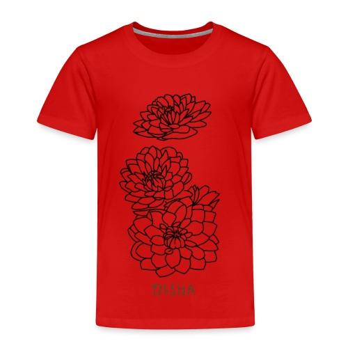 qisha blumen abstrakt - Kinder Premium T-Shirt