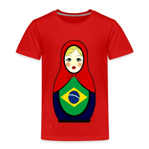 Brasilien Matrjoschka Brazil Matroschka - Kinder Premium T-Shirt