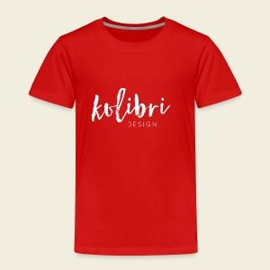 Logo Kolibri Design weiss - Kinder Premium T-Shirt