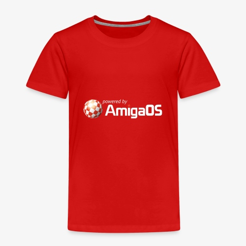 poweredByAmigaOS weiß - Kinder Premium T-Shirt