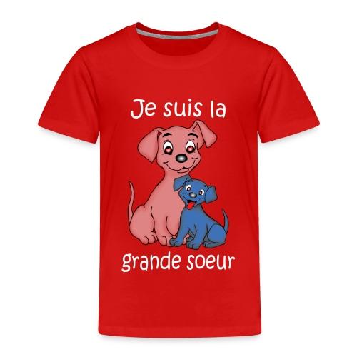 Je suis la grande soeur chiot - T-shirt Premium Enfant