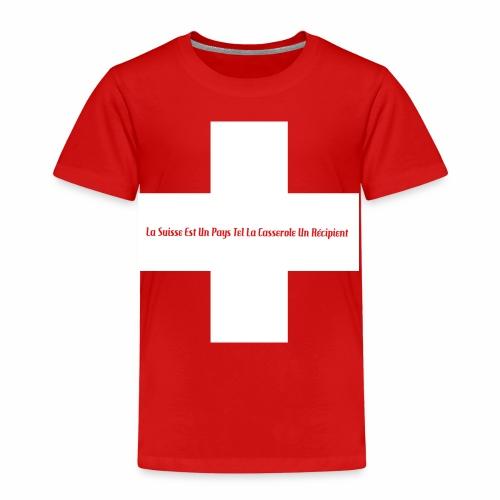 Design Super Suisse - T-shirt Premium Enfant