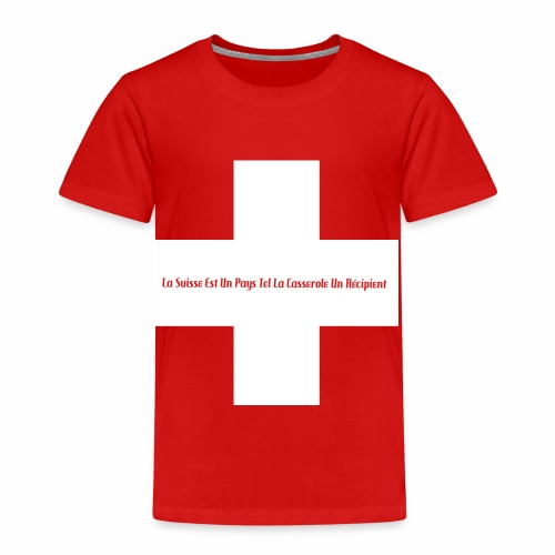 Design Super Suisse - T-shirt Premium Enfant