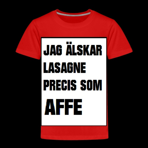 Affe älskar lasagne - Premium-T-shirt barn