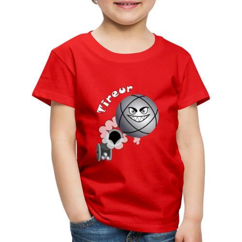 t shirt tireur pétanque boule existe en pointeur B - T-shirt Premium Enfant