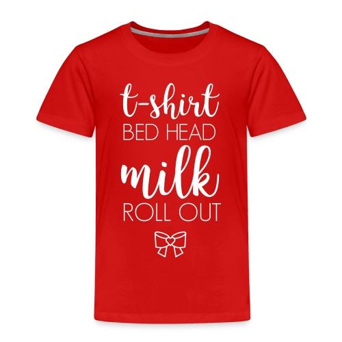 Baby Shirt Bow White V1 - Kinder Premium T-Shirt