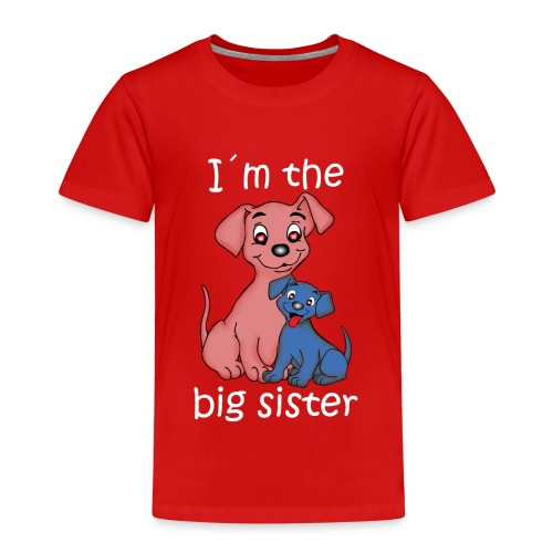 I'm the Big Sister puppy - Kids' Premium T-Shirt