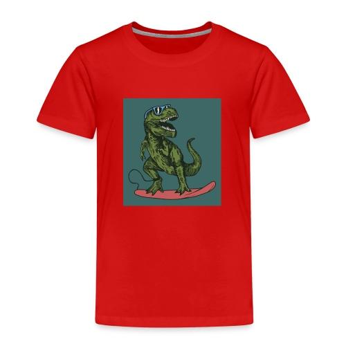 T-rex qui fait du surf - T-shirt Premium Enfant