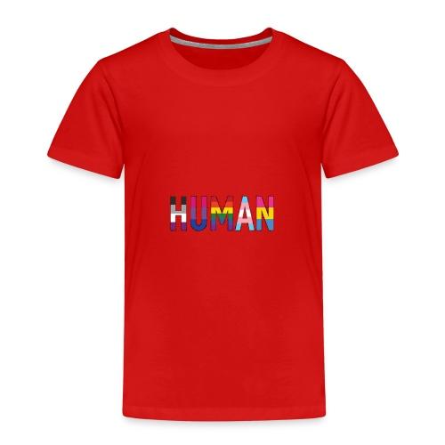 HUMAN - Rainbow - Kinder Premium T-Shirt